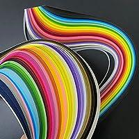 36色180個クイール紙盛り合わせ混色折り紙紙幅3/5/7 / 10mm手作りアートワークの花DIY用品 (Color : 7mmx54cm)