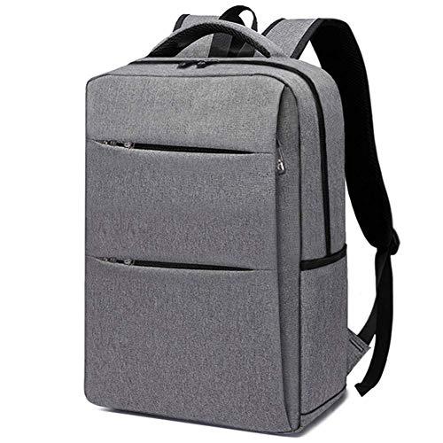 ZXL Heren Rugzak - Zakelijke Tas Reizen - Laptop Tas, Grijs/Zwart/Rood Grijs