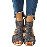 Xudanell Womens Sandals Low Wedges Peep Toe Wrapped Sexy Cute Diamond Casual Summer Dressy Sandalias Sandals for Women