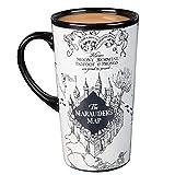 Harry Potter Marauder's Map Heat Reveal Tall Ceramic Mug - Map Image Activates with Heat - Tumbler Style - 13.5 oz