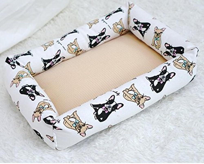 Cat Warmer Mat Oxford Cloth Canvas NonStick Pets Nest Cool Mat White
