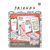 Paladone- Friends Pegatinas - 4 láminas de pegatinas para ordenador, impermeables y reutilizables.