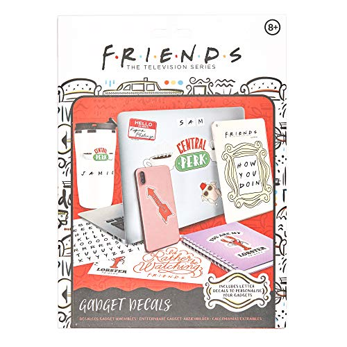 FRIENDS Gadget Decals - 4 Sheets of Removable Waterproof Laptop Stickers