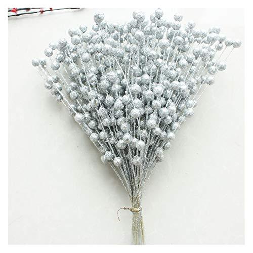 Zxebhsm Künstliche Blumen Künstliche Schaum Pistazien Simulation Gefälschte Blume Weihnachten Goldene Glitter Dekoration Hause Poly Kunststoff Blume (Farbe : 8)