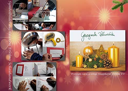 Weihnachtskarte regional von Hand im Schauhandwerk