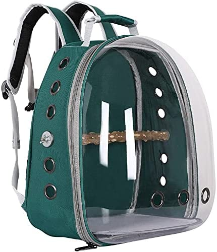 Surprise price Pet Carrier Backpack Parrots Oklahoma City Mall Transparent Bi Outing