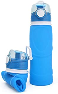 Collapsible Silicone Water Bottles-750 ML, Aolvo Eco-Foldable Water Bottle BPA Free Medical Food Grade Silicon Foldable Ca...