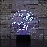 Handball 3D veilleuse 7 couleurs nuit lampe de Table Usb veilleuse lampe de Table bébé sommeil lampe de Table chambre veilleuse