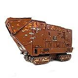 13168Pcs Technic Cavegod UCS Bloques De Construcción De Sandcrawler, Modelo De Arquitectura De Montaje con Interior Completo, Compatible con Lego Star Wars para Adultos,Marrón