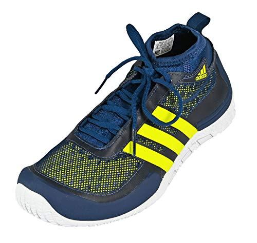 Adidas Gr02 Grinder - Scarpe da corsa da uomo, Mystery Blue Lab Lime Bianco, 42 2 3 EU