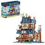 ITOP Juego de bloques de construcción modular con luz, 2566 piezas de Europa medieval con luz, modelo de construcción compatible con Lego Creator