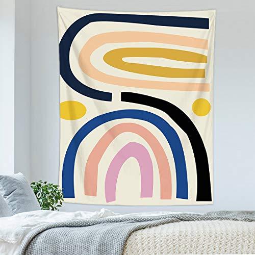 KHKJ Personalidad nórdica Tapiz Colgante de Pared Arte Abstracto Paisaje Mujer Revestimiento de Pared Tapiz Manta Dormitorio decoración A11 95x73cm
