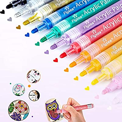 Amazon - Save 75%: Acrylic Markers, l'aise vie Acrylic Paint Marker Pens for Rock Painting, Wood,…