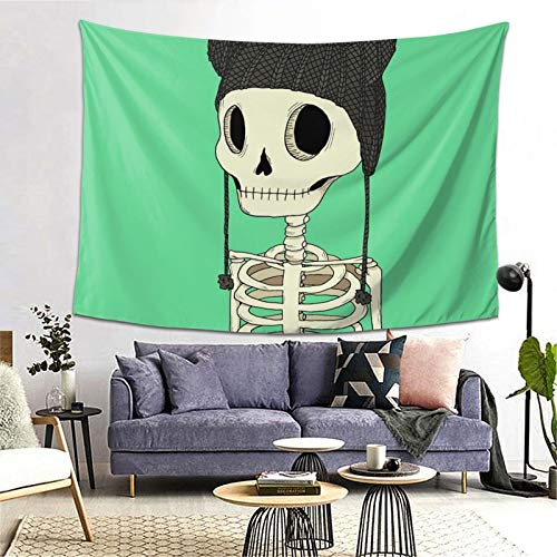 Skeleton Kitty Tapestry Art Tapestry Handicraft Party Decoration Banner Garland Event Banner and Home Decoration
