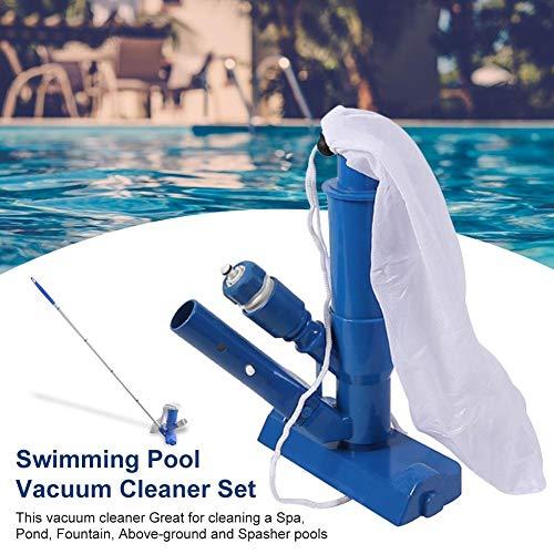 SOWLFE Chorro de vacío portátil para Piscinas - Limpiador subacuático para Piscinas | Juego de aspiradora para Piscinas para Piscinas elevadas, spas, estanques y Fuentes (1PC)