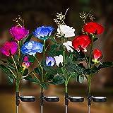 Luz solar para jardín al aire libre, lámparas solares para jardín con luces LED en rosa, luces decorativas para el jardín, césped, patio, cama de flores, pasarela, césped