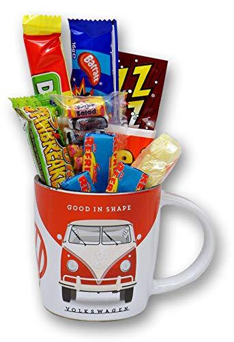 VW Type 2 Camper Van Good In Shape Mug filled with Retro Sweets