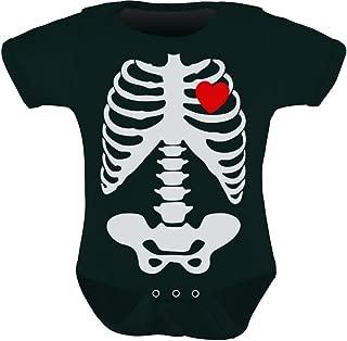 Baby Skeleton X-ray Heart - Halloween Easy Costume Baby Bodysuit