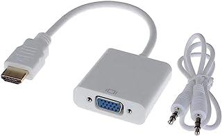 Alfais 4548 HDMI to VGA Dönüştürücü Adaptör Kablosu (Ses Destekli)