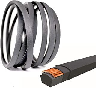 "QIJIA Lawn Mower Deck Belt 1/2"" x 114 1/4"" for John Deere M126536, LT133, LT150, LT155, LT160, LT166 and LT180 with 38"" an..."