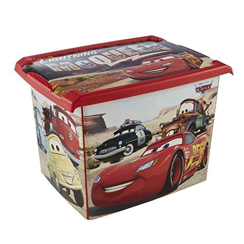 keeeper Disney Cars Aufbewahrungsbox mit Deckel, 39 x 29 x 27 cm, 20,5 l, Filip, Rot