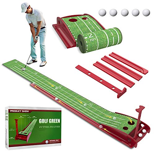 Wood Golf Putting Green Mat available on Amazon