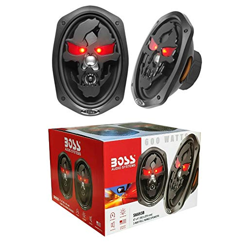 2 Altavoces Compatible con Boss Audio Systems SK693B coaxial de 3 vías 6 x 9 15,00 x 23,00 cm 150 x 230 mm 300 vatios rms 600 vatios máx 4 ohmios 92 db Negro, por par
