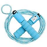 Cuerdas para Saltar Ajustable Saltar la Cuerda de Fitness y Mango de Espuma con Contando Cuerda de Salto para Niños Niña Mujer Entrenamiento,Juego Escolar,Actividad al Aire Libre