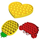 Juguete antiestrés Push Pop Bubble Sensory Fidget Toy,Stress Relief Special Needs Silent Classroom for Kids Adults Relief Finger Toys, Reliever,Crab Lobster Pineapple Radish Multiple Combinations (X)