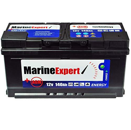 Bootbatterie 140Ah AGM Boot Versorgungsbatterie Starterbatterie Akku 12v