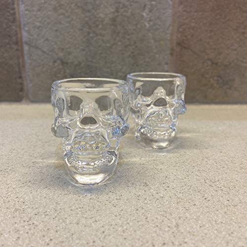 Crystal Head Vodka Skull Shot Glasses   Set of 2