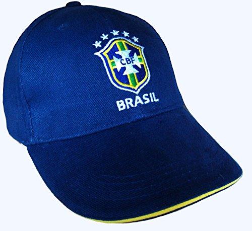 Equipe du BRESIL de football - Berretto con visiera della squadra di calcio del Brasile, collezione ufficiale