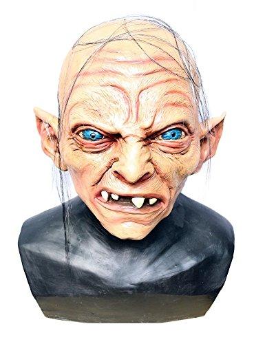 shoperama Hochwertige Latex-Maske in Lebensmittelqualität - Gollum - Herr der Ringe Hobbit