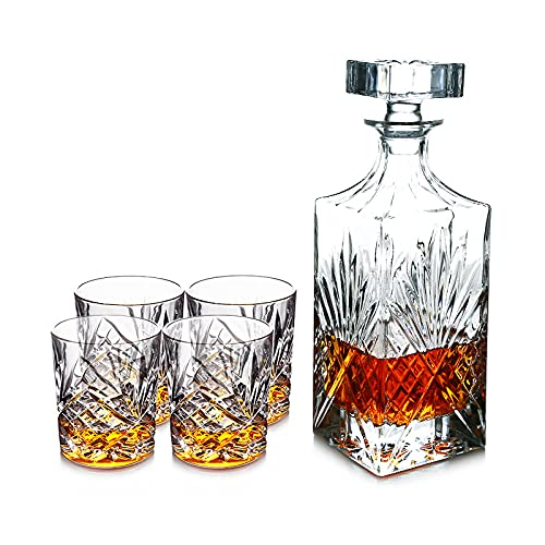 QIANJINGCQ Copa de cristal sin plomo juego de copa de vino de whisky copa de vino tinto copa de vino extranjera juego de vino decantador de estilo europeo