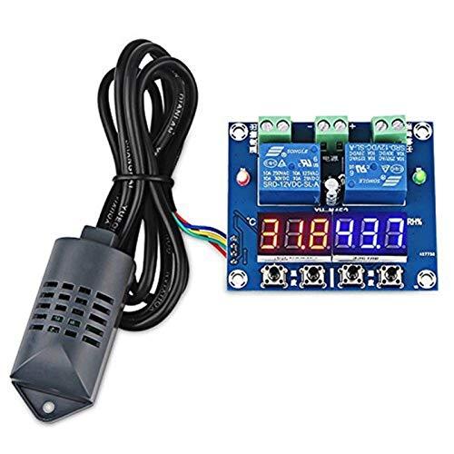 CAIJINJIN Módulo XH-M452 termostato Humedad de la Temperatura de Control de la exhibición del termómetro de Salida Dual higrómetro Controller Módulo 12V LED Digital