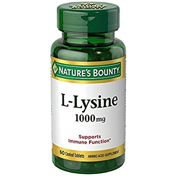 Nature s Bounty L-Lysine 1000 mg Tablets 60 ea  Pack of 2