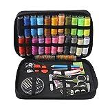 Creative-Idea 98pcs Viaje portátil Kit de Costura de electrodoméstico Casos Aguja inalámbrico Banda Tijeras botón Set