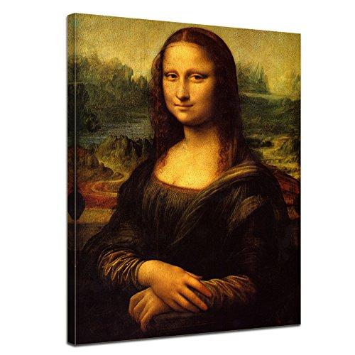 Wandbild Leonardo da Vinci Mona Lisa - 60x80cm hochkant - Alte Meister Berühmte Gemälde...