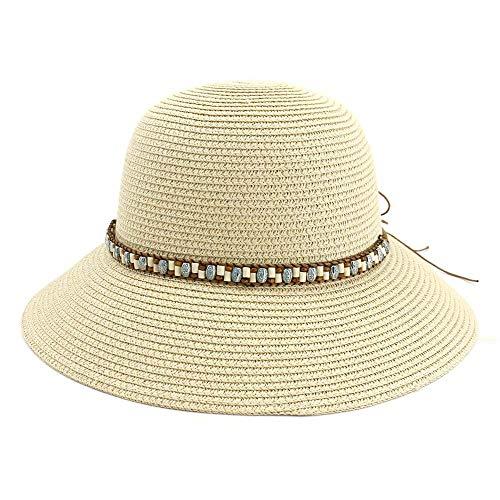 Draagbare dames zomer strohoed dames haak grote vleugel strand zon hoed inklapbare zonnehoed verkoop hoed