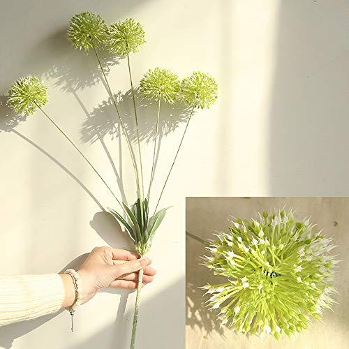 SKays - Ramo de flores artificiales de diente de león para decoración del hogar (5 cabezas de diente de león)