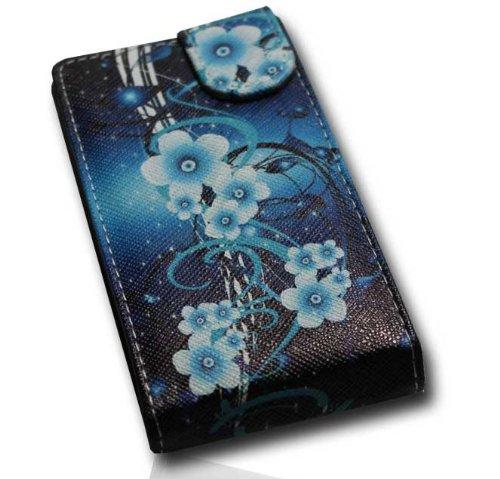 Handy Tasche Flip Style - Design No.2 - Cover Hülle Hülle Etui kompatibel mit Huawei Ascend Y300