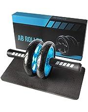 Quesuc Abdominal Wheel, Abdominal Wheel Ab Roller, Home Buikspier Workout Roller, Geschikt Voor Professionele Bodybuilders En Beginners- Foam Knee Pad Mat