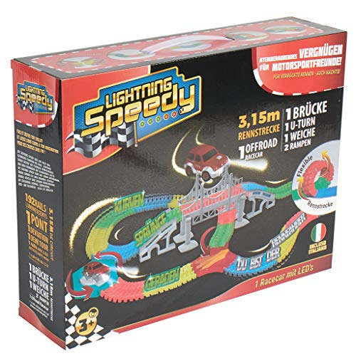 LIGHTNING SPEEDY Tracks Circuit de Voiture Flexible, modulable, Magic et Luminescent avec...