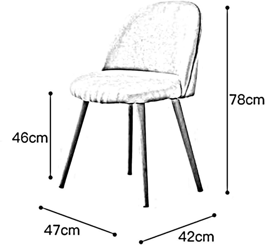 WYYY chaise de Bureau Chaise De Salle À Manger Bois Robuste Jambes en Métal Siège Souple Salon Meubles Durable Fort (Couleur : Rose) Gray