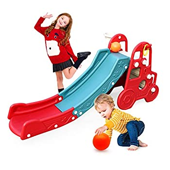 Ealing Baby Slide Climbing Toys 4 in 1 Playset for Toddlers Play Slides for Kids Indoor and Outdoor Jungle Garden Activity Gym Playground Sets for Backyards for Kids Age 3-5