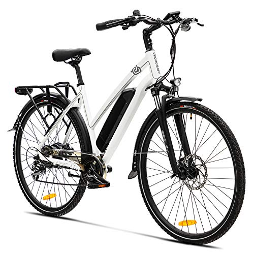 Elektrofahrrad E Bike VecoCraft Athena E-Bike Trekking Pedelec Vorführräder für Damen Herren, 28Zoll Urban Citybike, mit 36V 250W 13Ah Samsung Akku 25km/h 100km, Shimano 8-Gang Electric Bike