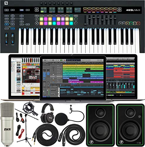 Novation SL MkIII MIDI and CV 49 Keys Keyboard Controller with Software Pack of...