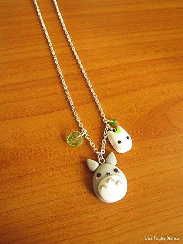 Collana di Totoro chibi cernit fimo ghibli handmade polymer clay