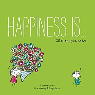 Happiness is 20 Thank You Notes (Pick Me Up Gifts, Cheerful Thank You Cards)