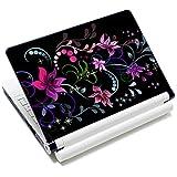 Laptop-Aufkleber für Laptops von Toshiba HP / Samsung / Dell / Apple / Acer / Leonovo / Sony / Asus / Laptop / Notebook (Blumendesign)